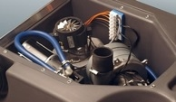 Easy access to motors and electrics: Quick and simple maintenance.